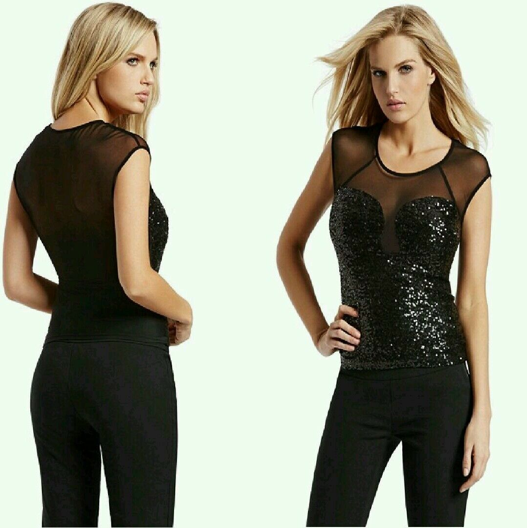 Guess By Marciano Emmy Mesh Top Sold Out Most Wanted
