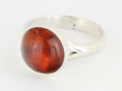 Danish 925s Sterling Silver ring made by N.E.From with Amber 1980/'s