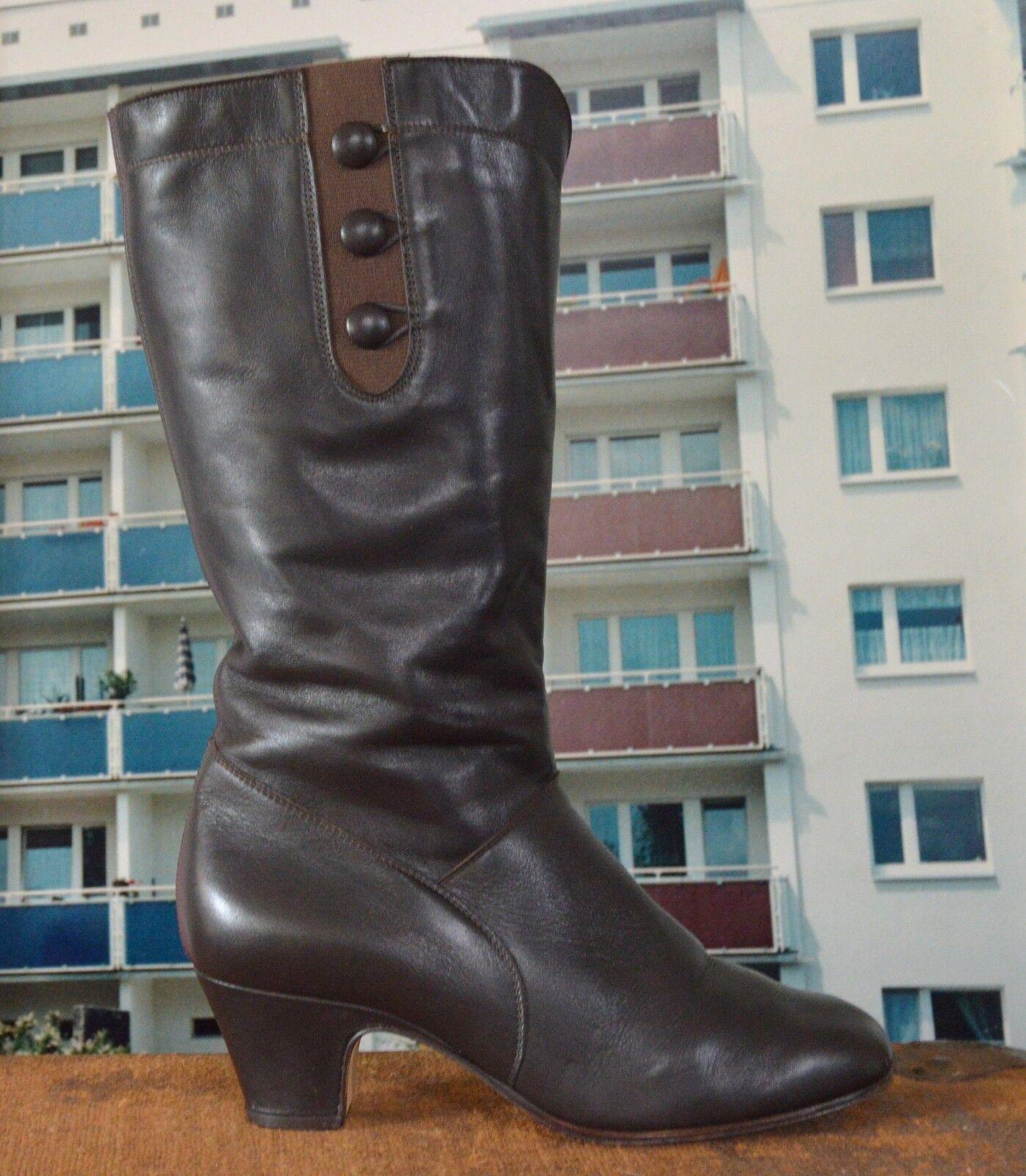 botas señora botas meisi nos 80er True vintage 90er señora botas marrón marrón