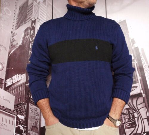 BLACK  L POLO Ralph Lauren Turtleneck size MEN/'S NAVY