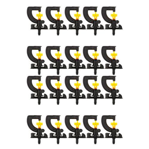 20pcs arroseurs de jardin type buse rotative micro-asperseur rotative 360