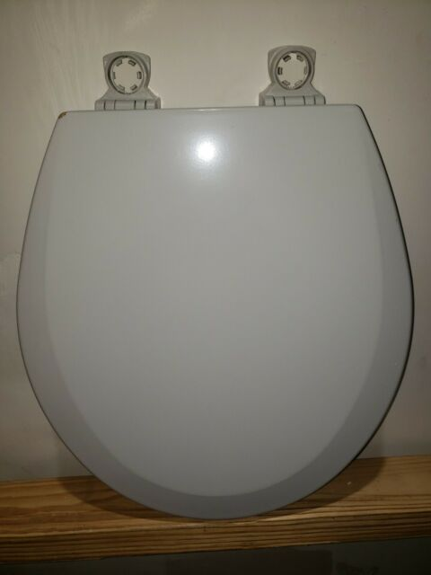 Bemis Lift Off Round Closed Front Toilet Seat In Ice Gray