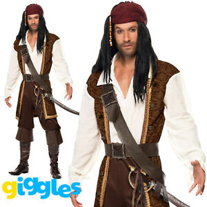 image is loading mens pirate costume captain adult man caribbean halloween