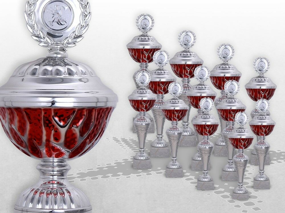 Pokalserie rot Starlight Pokale günstig kaufen mit Gravur Emblem rot - silber