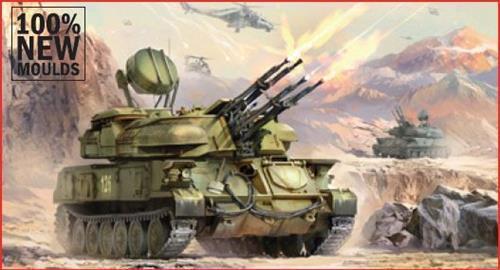 "Soviet Antiaircraft Weapon System /""Shilka/"" Kit 1:100 Zvezda Z7419"