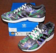Adidas zx flujo púrpura tamaño 9 b34517 blanco y negro Ebay