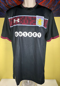 Men S Under Armour Fitted Heatgear Avfc Aston Villa Away Soccer Jersey Medium 190496441835 Ebay