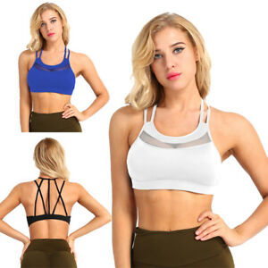 b4e22c4020 Women Seamless Padded Sports Yoga Bra Workout Running Crop Top Vest ...