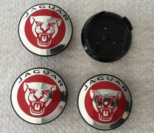 Genuine Jaguar Rosso lega ruota centro CAP BADGES C2D47107 Nuovo di Zecca XE XK Tipo F