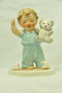 Goebel Charlot Byj Sleepyhead Yawning Boy with Bear