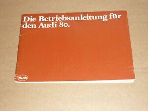 AUDI-80-1978-neues-Modell-Betriebsanleitung-Bedienungsanleitung-Handbuch