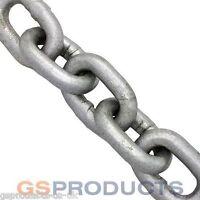 8mm Galvanised Steel Chain x 10 Metres (Short Link 24mm) DIN766 3000kgs MBL