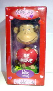 Bobblehead-Max-the-Monkey-Valentines-Day-Be-Mine-Gift-2002-Collectors-Item-NIB