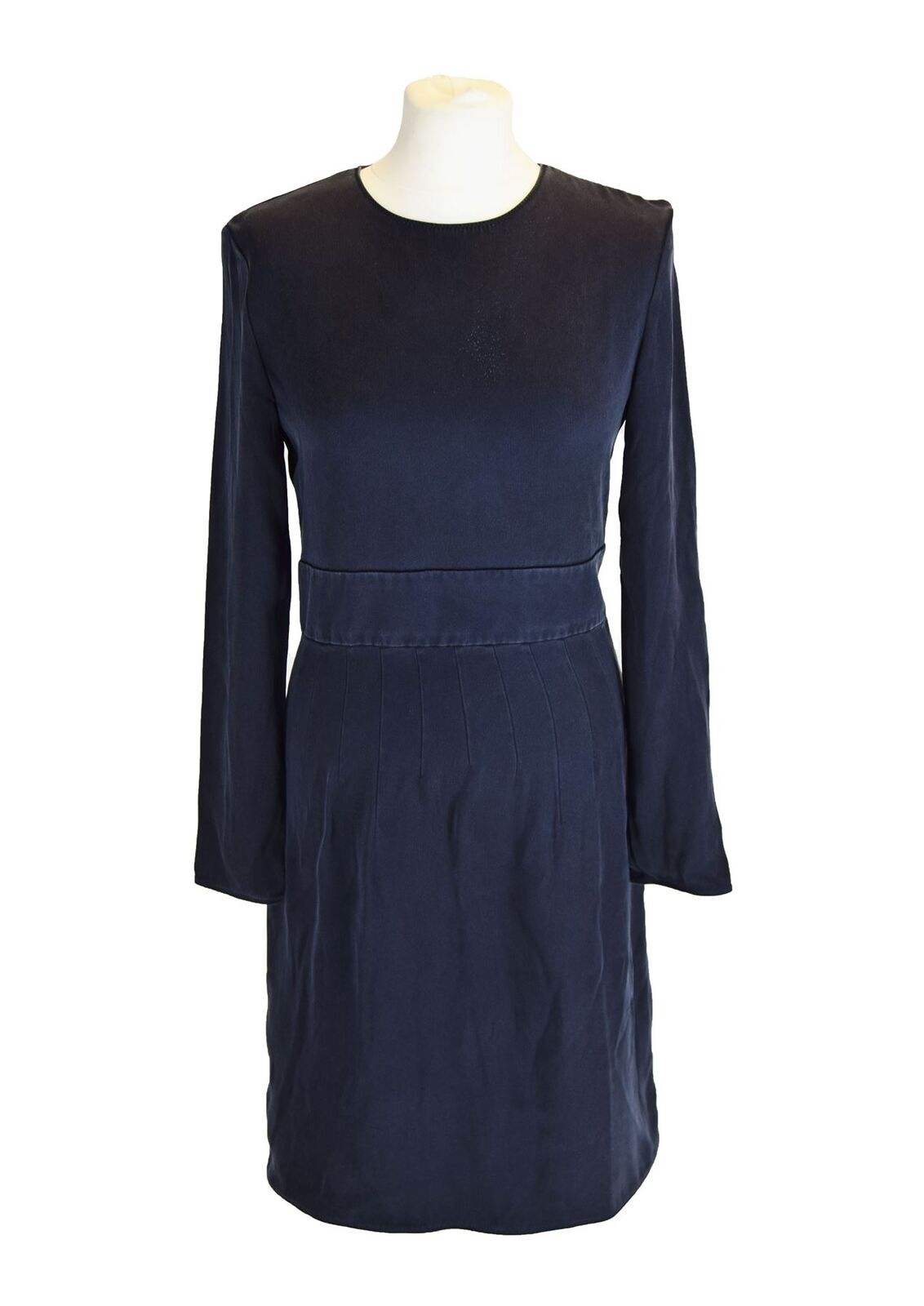 CELINE Blau 100% Silk Dress, UK 10 US 6 EU 38