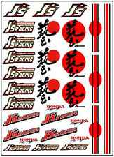 1/64, 1/87 - DECALS FOR HOT WHEELS, MATCHBOX, SLOT CAR: JAPAN HONDA RACING BRAND