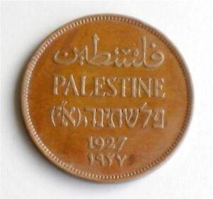 Israel-Palestine-British-Mandate-2-Mils-1927-Coin-XF