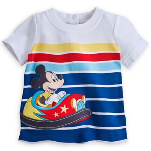 DISNEY STORE MICKEY MOUSE TEE /& PANTS SET BABY BOY NWT ~ MICKEY IN BUMPER CAR