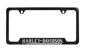 Harley-Davidso<wbr/>n Black License Plate Frame Holder 4 Hole