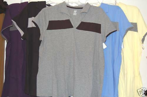 New Plus Size DUO Maternity Awesome Polo Top 2X Black