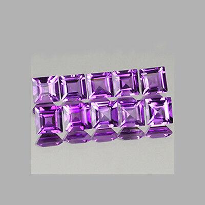 3mm 10pcs Set Square Natural AA Purple AMETHYST (c3-10)