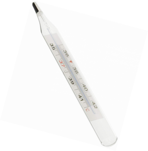 easy to read and use for adults, GIMA Classic//Clinical//glass fever thermometer