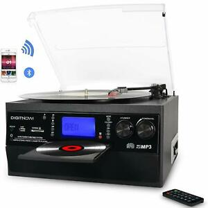 Details about Bluetooth Record Player Vinyl Turntable to MP3 CD Cassette  Player AM/FM Radio