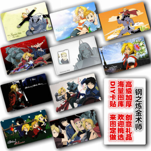 Japan Anime Fullmetal Alchemist 10 pc//set Card Paster IC Card Sticker Credit A