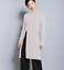 Womens Knitting Long Split Turtleneck Long Sweater Casual Warm Tops Slim Pullove