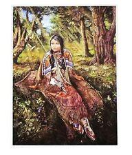 Indianer Alu-Bild Indianerin USA Western Saloon Cowboy Deko,16x21 Alubild Kanada