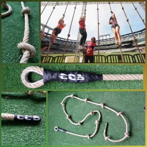 corde escalade pompier 30mm grosse chanvre crossfit nœuds grimper