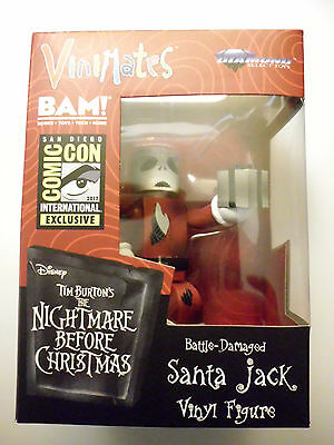 Vinimates Nightmare Before Christmas SDCC Battle Damaged Santa Jack Vinyl Figure