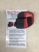 Wilson Black Widow Leather Split Finger Shooting Tab Right Hand Small