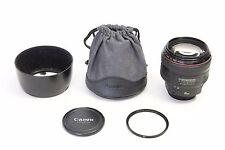 Canon EF 85mm f/1.2 L II USM Lens EXCELLENT DIGITAL EOS + BONUS B+W 72mm Filter!