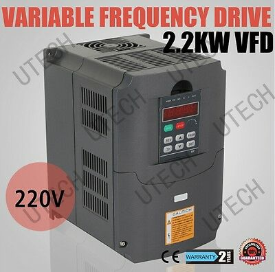 New HIGH QUALITY UPDATED 220V&VARIABLE FREQUENCY DRIVE INVERTER VFD 2.2KW 3HP