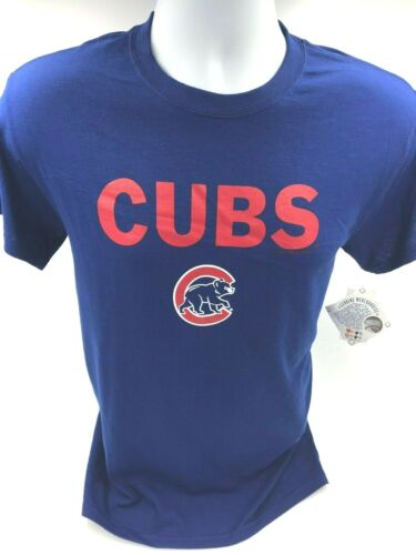 XL Official MLB 2XL M L All Sizes: S Chicago Cubs Mens Crew Neck T-shirt