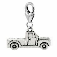 Pickup Truck Car Vehicle Driving Clip On Lobster Claw Dangle Charm For Bracelets