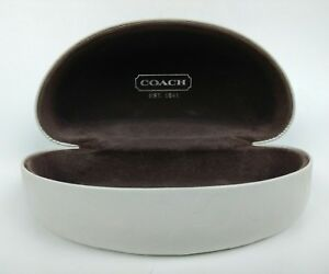 Coach-Sunglasses-Case-Hard-Shell-Protective-Travel-Carrier-Large-White