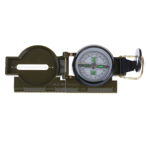 Outdoor Camping Hiking Style Survival Marching Military Lensatic Compass Cb