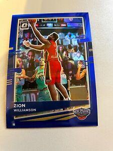 2020-21 Donruss Optic Basketball NBA Zion Williamson Blue /59 #40 Pelicans