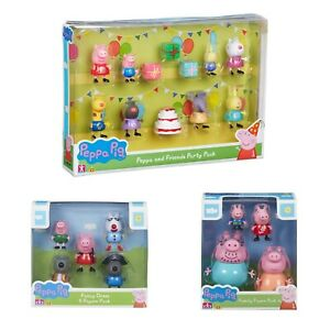 Peppa-Pig-Toy-Figure-Sets-3-choix-Fancy-Dress-Party-PK-ou-famille-Figure-PK-New
