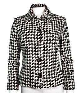 Houndstooth-Brown-Ivory-Celine-Jacket-Size-38