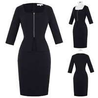Vintage 50's Slim Bodycon Wear to Work Pin Up Cocktail Party Wiggle Pencil Dress