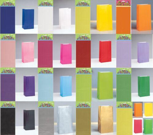 sacs gamme de couleur-traiter cadeau sweet candy anniversaire noël butin 10//12 papier fête