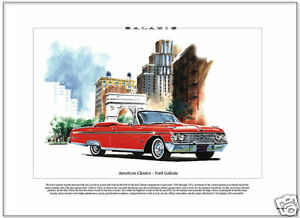 American Classics - FORD GALAXIE 1962 - Fine Art Print