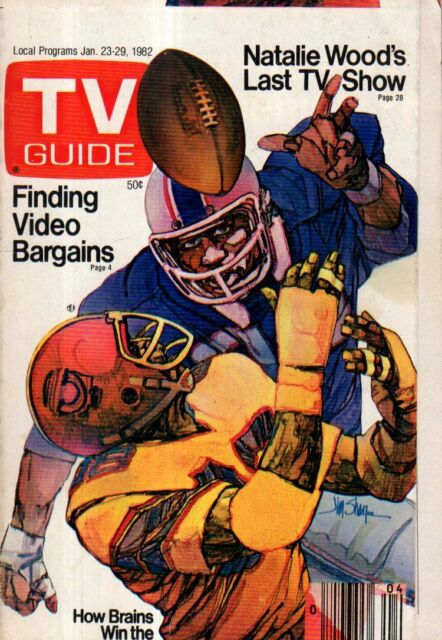 1982 TV Guide January 23 - Bret Maverick; Jim Lehrer; Super Bowl; Natalie Wood