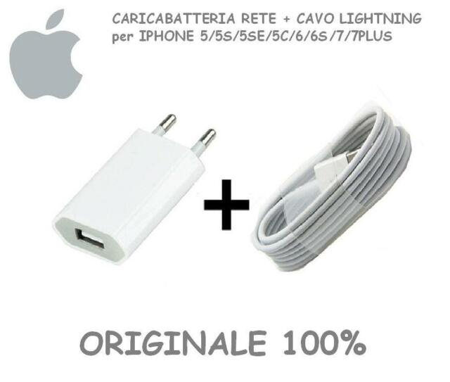 Ladegerät ORIGINAL+ ORIGINAL Apple-LIGHTNING-Kabel für iPhone 5 6 7 S SE IPOD IP