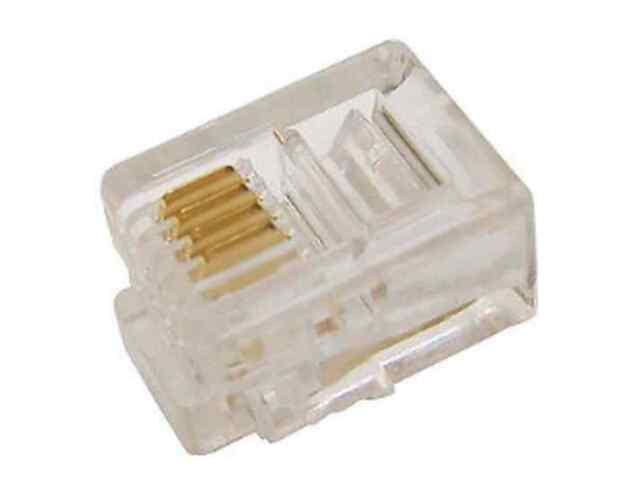 Fiche Téléphonique 4 Conducteurs 6 Positions 6P4C RJ11 pour Câble Téléphone