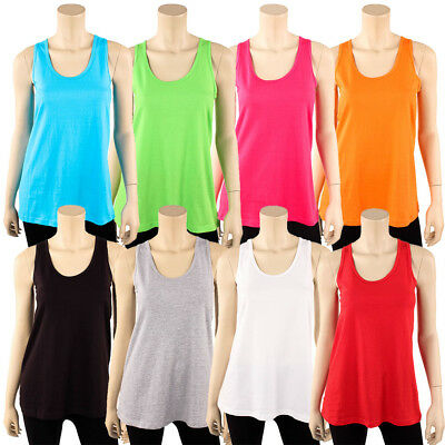 Women Loose Fit Tank Top with scallop 100/% Cotton Available in S M and L