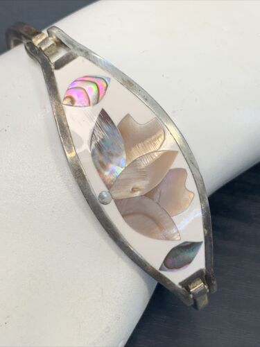 Vintage White Mother Of Pearl Mosaic Iridescent Ra