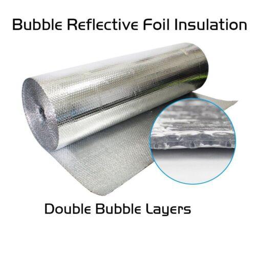 100sqft Heavy Duty Silver Foil Cell Air Bubble Insulation Heat Radiant Barrier